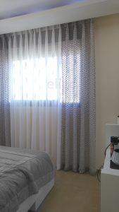 ווילונות בשילוב בד רשת דיג לחדר השינה